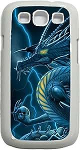 Dragon Holding Skulls- Case for the Samsung Galaxy S3 i9300 -Hard White Plastic Case