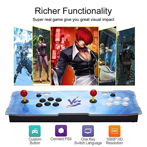 MYMIQEY Pandora Treasure 3D Arcade Game Console   2200 Retro HD Games   Full HD (1920x1080) Video   2 Player Game Controls   Support Multiplayer Online   Add More Games   HDMI/VGA/USB/AUX Audio Output by MYMIQEY (Image #1)