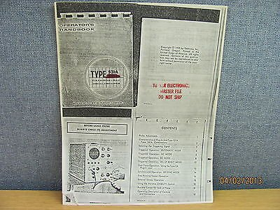 Tektronix 531A/541A: Cathode-Ray Oscilloscope Operator's Handbook (copy)