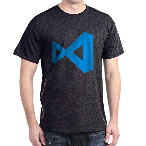 CafePress Visual Studio Code 100% Cotton T-Shirt Charcoal