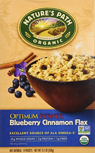Flax Cereal Path Natures - Nature's Path Organic Optimum Power Flax Cereal Blueberry Cinnamon, 11.2 Ounce