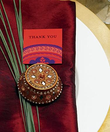 Amazon Golden Lac Box Indian Wedding Favor And Place Card
