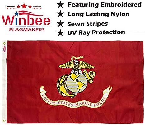 2x3 Marines USMC Marine Corp EGA Double Sided 210D Nylon Flag 2/'x3/' Gift Set