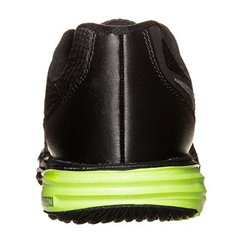 Nike Jungen Tri Fusion Run (GS) Laufschuhe Schwarz / Silber / Grün (Schwarz / Metallic Silber-Volt)