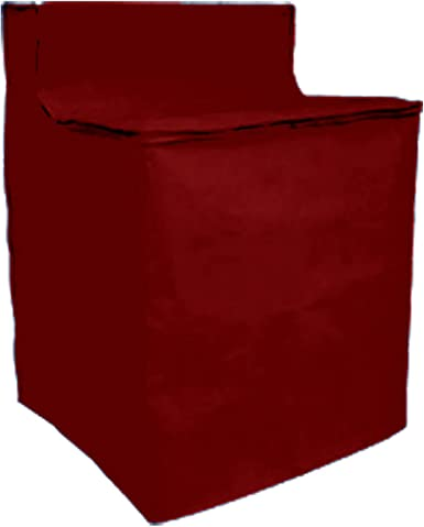 Heavyweight Zippered & Quilted Washing Machine Cover (red)