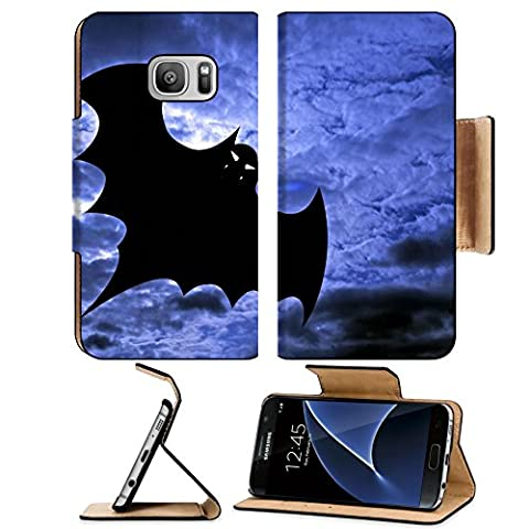 Liili Premium Samsung Galaxy S7 Flip Pu Leather Wallet Case Halloween background flying batBatdracula IMAGE ID 2954333