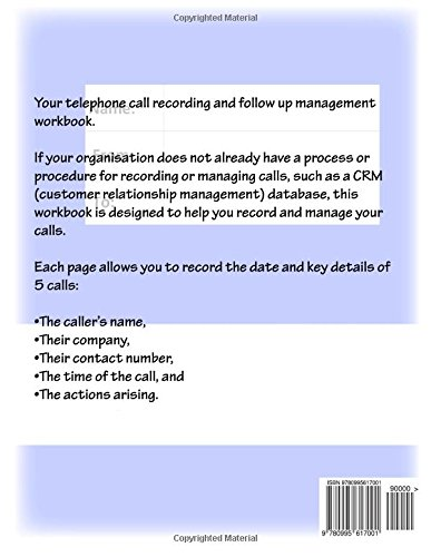 My Telephone Record Book: Your telephone call recording and