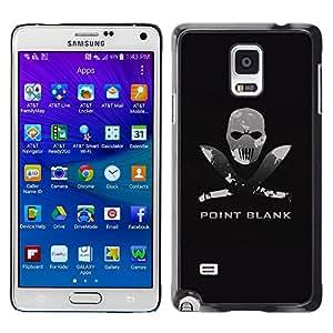 Planetar® ( Point Blank Machete Face ) Samsung Galaxy Note 4 IV / SM-N910F / SM-N910K / SM-N910C / SM-N910W8 / SM-N910U / SM-N910G Fundas Cover Cubre Hard Case Cover