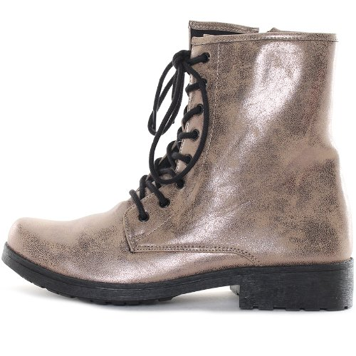 Taupe Military 7 Missile in Size Bronze Qupid Lace Women's Up 04 Bootie qpBwB8