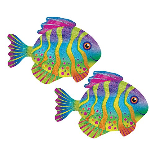 (Set of 2 Sparkling Tropical Fish 33