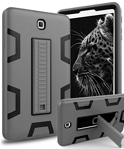 Galaxy Tab S2 9.7 Case,TOPSKY[Kickstand Feature]Three Layer Hybrid Heavy Duty Full-Body Shockproof Anti-Slip Protective Case for Samsung Galaxy Tab S2 9.7 inch (SM-T810/SM-T815/SM-T813),Grey/Black