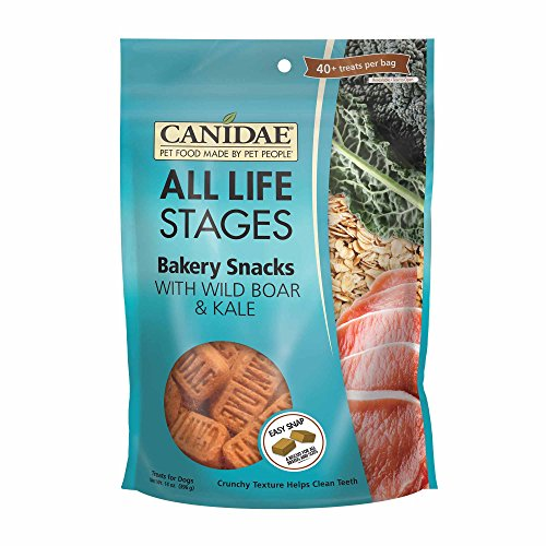 CANIDAE All Life Stages Bakery Snacks for Dogs with Wild Boar & Kale, 14 oz.
