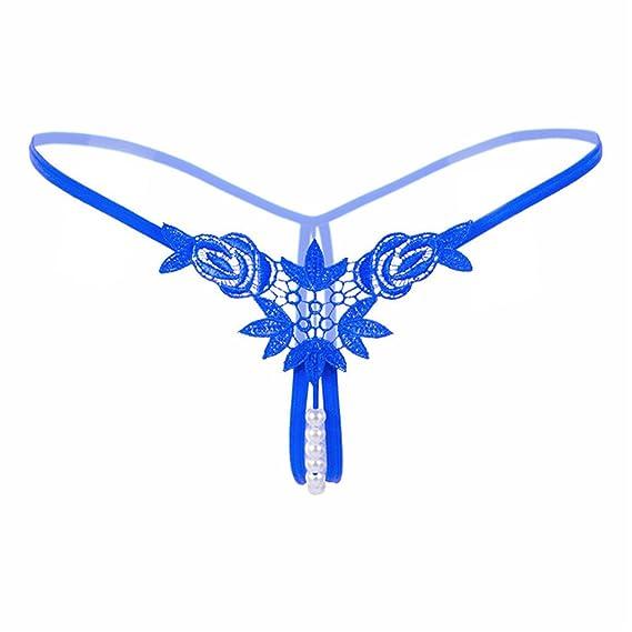 Shirloy Brodé tridimensionnel Sexy sous-vêtements Perle Dames Soluble dans  l eau Fleur String 70841090d44