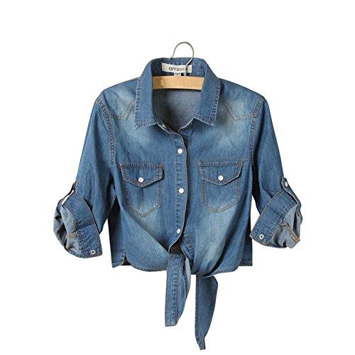 不安第二に製造Eternal レディース 冬と春用のコットンを使用したノンスリーブのジーンズデニム ベストジャケット 上着