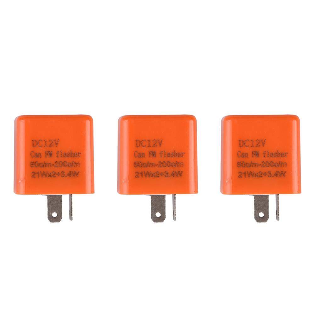2 Pins Electric Motorcycle Adjustable LED Flasher Turn Signal Indicator Flash