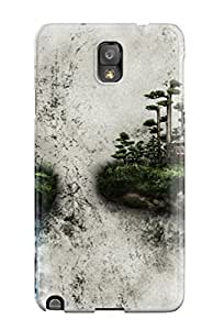 Fashion Tpu Case For Galaxy Note 3- Two Islands On A Wall Defender Case Cover
