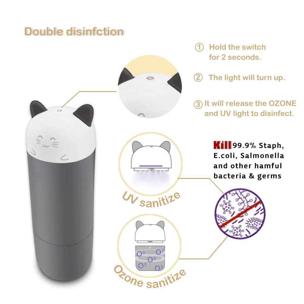 Los beb/és de dibujos animados comen esterilizador esterilizador port/átil de botella de ozono UV