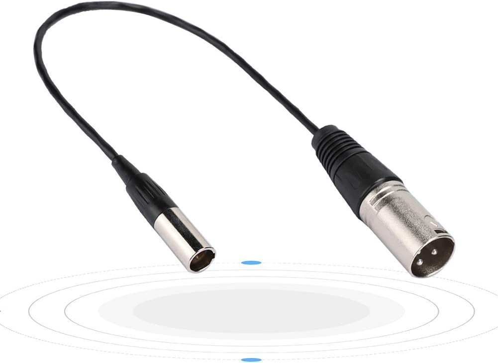 Mini XLR 3PIN Male to for Canon Audio Cable for Transfering Camera Microphone Interface for The Microphone Interface Transfer of Various Cameras SLR Cameras Microphone Cable