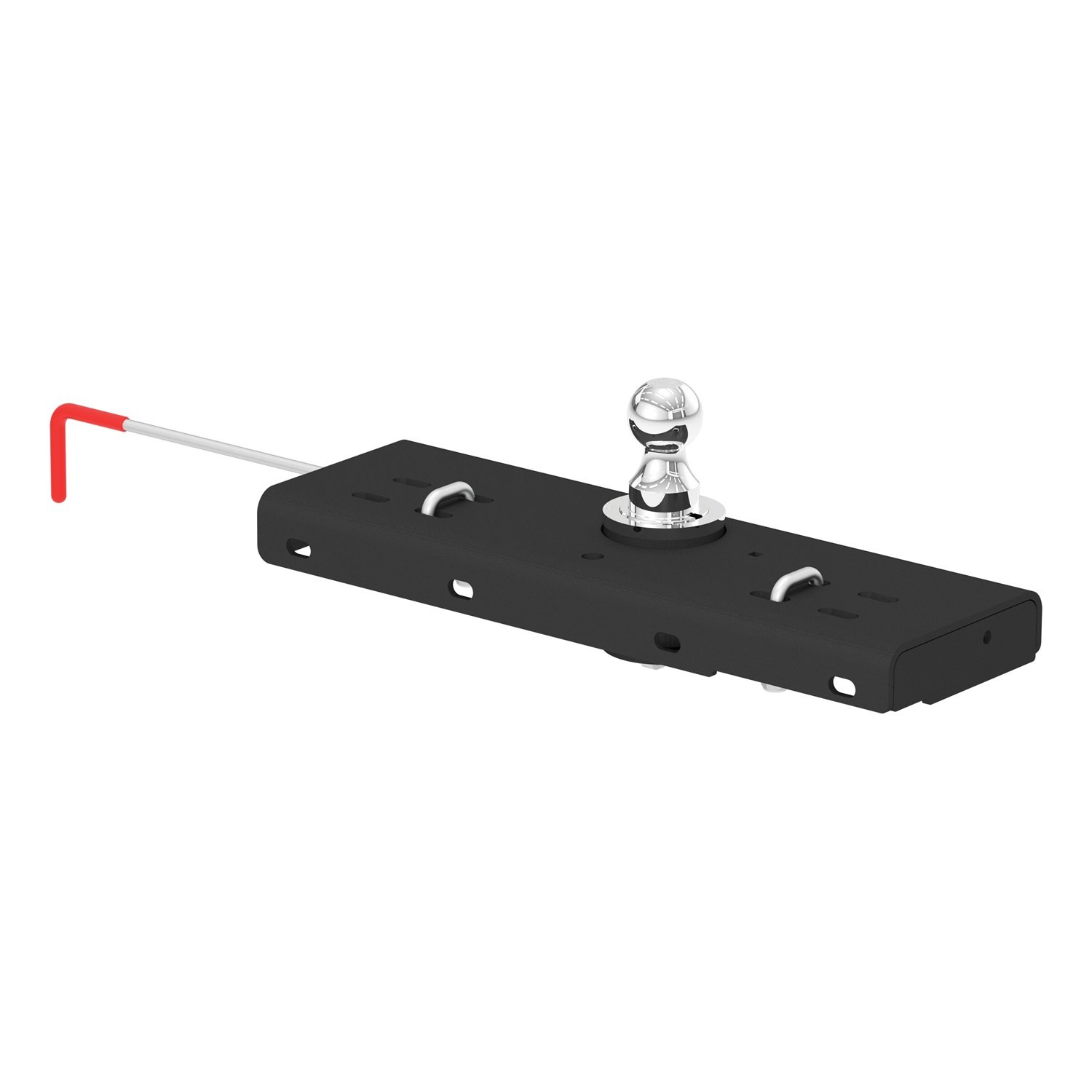 CURT 60607 Double Lock Gooseneck Hitch with Flip-and-Store Ball, 30,000 lbs., 2-5/16-Inch Ball by CURT
