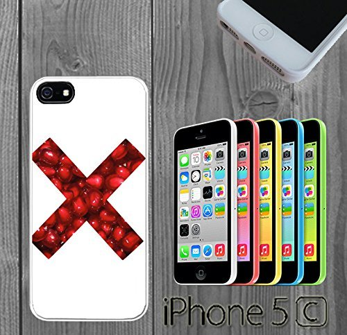 Price comparison product image Red X Candy Custom made Case / Cover / skin FOR iPhone 5C - White - Rubber Case ( Ship From CA)