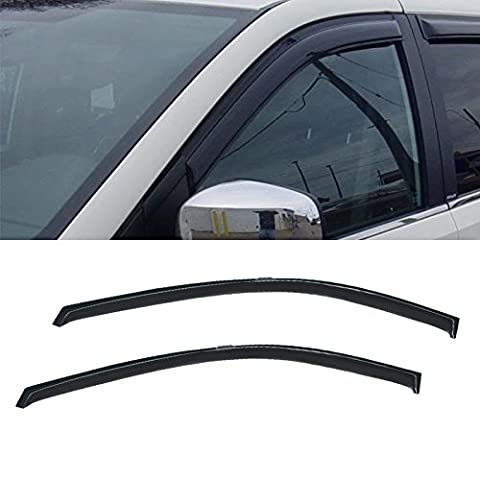 VIOJI 2pcs Front Door Dark Smoke Outside Mount Style Sun Rain Guard Vent Shade Window Visors Fit Dodge Caravan/Grand Caravan Chrysler Town & Country Plymouth Voyager/Grand (Dodge Caravan Door Accessories)