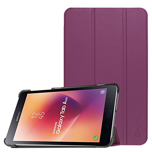 Fintie Slim Shell Case for Samsung Galaxy Tab A 8.0 2017 Model T380/T385, Ultra Lightweight Standing Cover with Auto Sleep/Wake for Galaxy Tab A 8.0 Inch SM-T380/T385 2017 Release, Purple