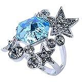 Finger Studded Jewelry Rhinestone Retro Star Ring LOVE STORY