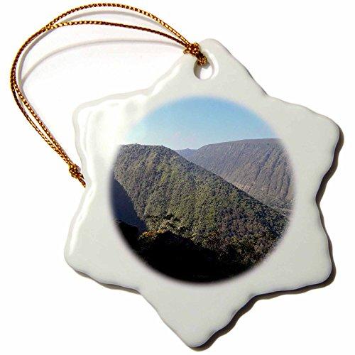 3dRose orn_107115_1 Waipio Valley, Big Island Hawaii-Snowflake Ornament, Porcelain, 3-Inch by 3dRose