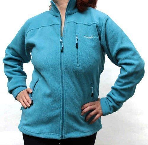 Etlanta - Chaqueta Polar Micropolar Grueso Color Azul Lavanda de Calidad para Mujer turquesa oscuro