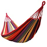 Features: High quality Durable and comfortable, Lightweight, strong, and easy to assemble Easy to carry and pack lightweight hammock for camping Perfect for laying out in the sun or enjoying the starry night sky. Specification: Material:Canvas Total ...