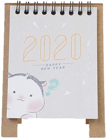 2020 Creative Kraft Paper Kawaii - Calendario de mesa con diseño ...