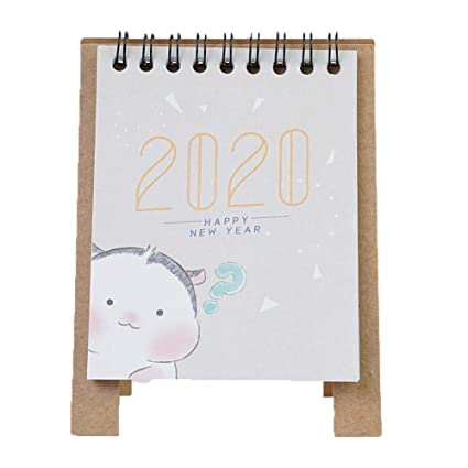 2020 Creative Kraft Paper Kawaii - Calendario de mesa con ...