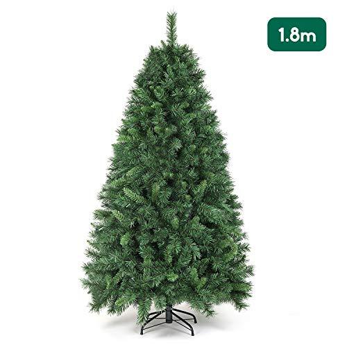 SALCAR Árbol de Navidad de 180 cm, Árbol Artificial con 580 Puntas, ignífugo, Abeto, construcción rápida Incl. Soporte…