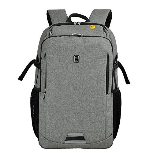 kinokoo Business Rucksack Notebook Computer Rucksack Wasserdicht und Burglarproof Intelligente Rucksack grau(M) TjW24Hl