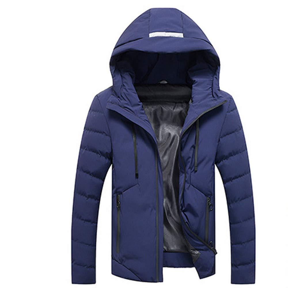 Yvelands Mens Winter Warm Hoodie con Capucha Zip Slim Chaqueta Outwear Manga Larga Viento Abrigo: Amazon.es: Ropa y accesorios