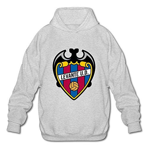 Men's Levante Ud Logo Design Hoodies Sweatshirt Ash Size L Custom By Rahk