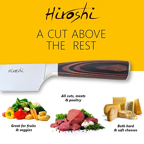 Premium Sushi & Sashimi Chef's Knife – 8'' Ultra High Carbon Steel (Premium Chef Knife) by HIROSHI (Image #3)