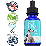 Hemp Oil for Dogs and Cats 250mg Full Spectrum Organic Hemp Oil Extract Helps Pets Relieve Stress Anxiety, Calming, Joint Pain, Skin Coat, Health & Immunity Support + Omega Zero THC CBD Cannabidiol