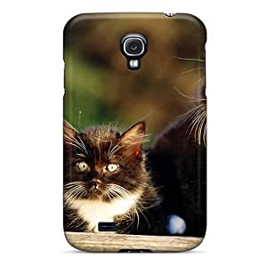 First-class Case Cover For Galaxy S4 Dual Protection Cover Black White Persian Kittens