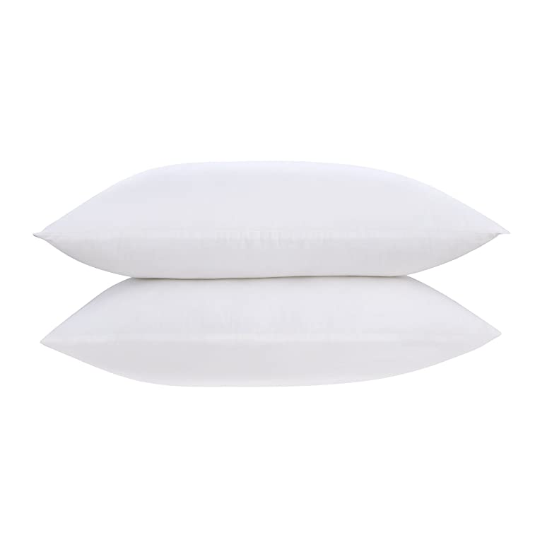 HOMFY Queen 100% Cotton Pillows for Sleeping, Set of Two Standard Premium Bedding Neck Pillow, Hypoallergenic, Anti Dust Mite and Mold & Mildew Resistant - White