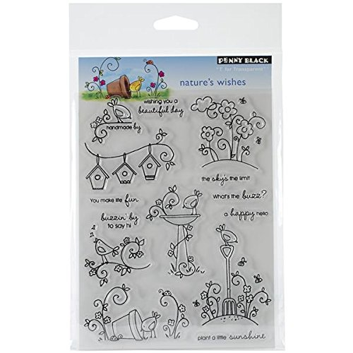 Penny Black Decorative Rubber Stamps, Nature's Wishes (30-109) Nature's Wishes (30-109) Penny Black Inc.
