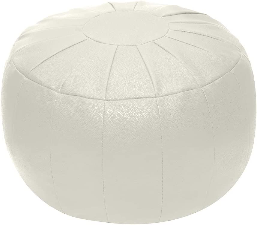 Rotot Unstuffed Pouf Cover, Ottoman, Bean Bag Chair, Foot Stool, Foot Rest, Storage Solution or Wedding (Empty & New) (Beige)