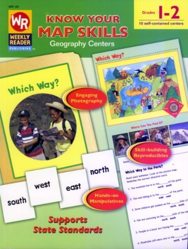 Know Your Map Skills Geography Centers, Grades 1-2