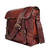 TUZECH Menly Look Hard Bound Bravery Symbol Pure Leather Messenger Bag - Fits Laptop Upto 13.3 Inches
