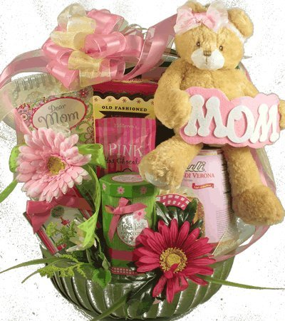 So Beary Sweet Cake, Cookies and Sweets Gourmet Gift Basket for Mom | Beautiful Birthday Gift Idea by Organic Stores