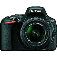 Nikon D5500 24.2 MP DSLR Camera With 3.2-Inch LCD 18-55 mm VR DX Lens (Black)(Certified Refurbished)
