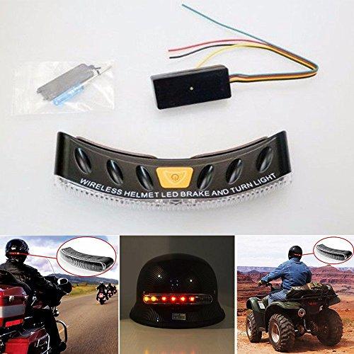 (12V 8 LEDs Wireless Motorcycle Stop Brake Light LED Turn Signal for Harley Softail SportsterHonda Shadow AeroKawasaki VulcanSuzuki Boulevard Yamaha RaiderRoad Star Stratoliner Virago)