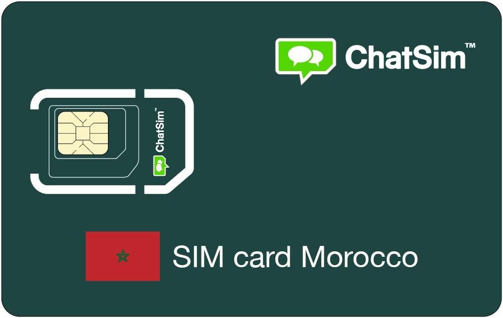 Tarjeta SIM internacional para viajes a MARRUECOS y en todo el mundo – ChatSim – cobertura 165 Países, roaming global – red multioperador GSM/2G/3G/4G, sin costes fijos: Amazon.es: Electrónica