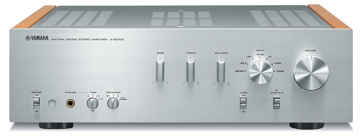 Yamaha A-S2000SL Natural Sound Stereo Amplifier (Silver)