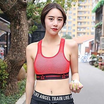Sujetador de yoga para correr, sexy, con red de hilo, de banda ...